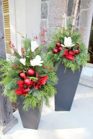 articles with outdoor christmas flower pot ideas tag christmas
