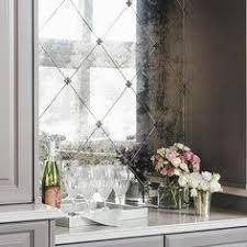 Mirror Tile Mirrored Backsplash Kitchen For The Home - Bar backsplash