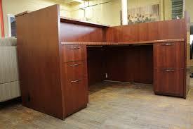 Plywood Reception Desk Custom L Shaped Reception Desk Designs Desk Design