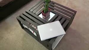 Diy Coffee Tables - diy coffee table wooden crates youtube