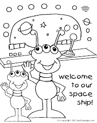 space aliens free coloring pages kids printable colouring sheets
