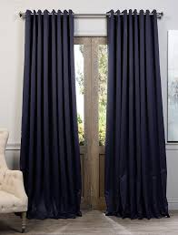 exclusive fabrics extra wide thermal blackout grommet top curtain panel navy blue size 120 x 100 polyester solid
