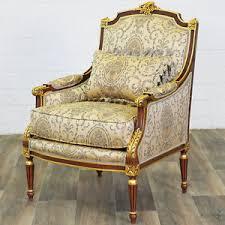 siege baroque fauteuil bergere style louis xvi siege royal en hetre dore baroque