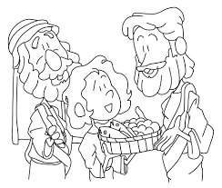 loaves and fishes coloring page free download
