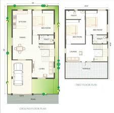 800 sqft duplex plan house concept