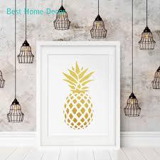 aliexpress com buy gold pineapple poster art print gold decor