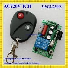 Remote Control Switch Ac220v 1ch Lighting Switches Remote On Off