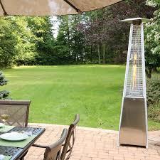 Table Top Patio Heaters Propane Hanover Mini Pyramid 9500 Btu Propane Tabletop Patio Heater