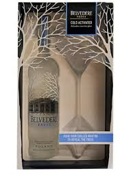 liquor gift sets belvedere vodka gift set with martini glass 750ml the liquor store