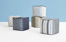 Kravet Ottoman Modern Blue Ottomans And Fabrics By Kravet The Designer Insider