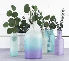Cool Vase Cool Colors Frosted Glass Collection Project By Decoart