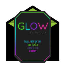 free glow in the dark invitations dark free and neon party