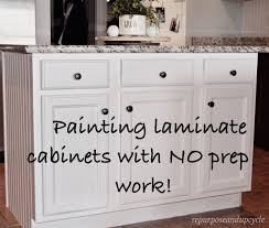 painting laminate kitchen cabinets painting laminate cabinets with no prep work paint laminate