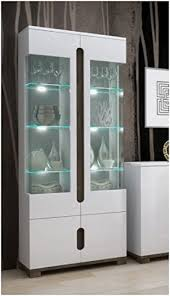 white glass storage cabinet lorenz high gloss white display cabinet 2 glass door p9rxls02 by