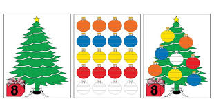 free printable ornament counting activity