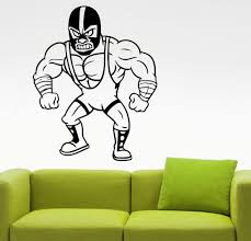 compare prices on mexican wall stickers online shopping buy low mexican wrestler wall decal gym sports wall stickers home interior design sports room decor boy s bedroom