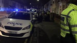 two arrested after suspected stolen car crashes into four parked
