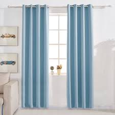 melodieux chevron blackout thermal insulated grommet top curtains