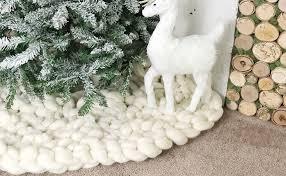 white tree skirt 36 chunky knit christmas tree skirt christmas decorations