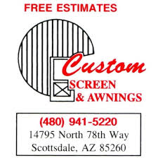Awning Logo Custom Screen U0026 Awning Local Services 14795 N 78th Way
