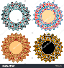 vector islamic floral ornaments open stock vector 287336645