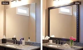 framed bathroom mirror ideas custom diy bathroom mirror frame kits