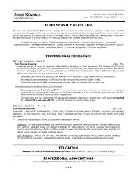 food service resume template safety director resume sle resume resume template food service