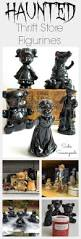 Halloween Wedding Sayings Painting Thrift Store Figurines Black With Red Painted Eyes To