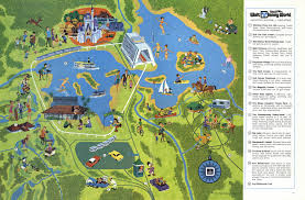 Map Of Disney World Magic Kingdom by Pre Opening Wdw Postcards W Concept Art Polynesian Village