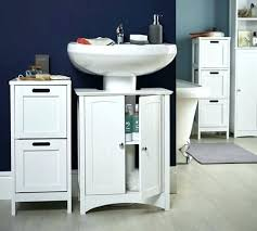 bathroom pedestal sink storage cabinet small bathroom pedestal