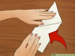 how to fold a secret letter 9 steps with pictures wikihow
