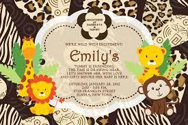 safari invitations for baby shower 8431