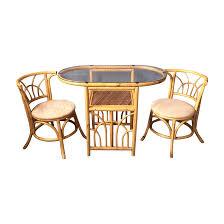 1980s Furniture Vintage 1980s Bamboo Dining Set Chairish