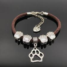 charm bracelet charms images Love my dog rope paw charm bracelet with 2 free extra changeable jpg