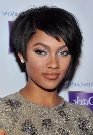 short hairstyles for round faces black hair hairstyle picture magz