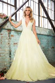yellow dresses for weddings lurelly bridal high fashion wedding dresses inspiration wedding