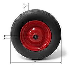 chambre à air brouette 3 50 8 wiltec roue complète de brouette en polyuréthane increvable grandeur
