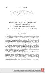 the diffraction of x rays by age hardening aluminium copper alloys