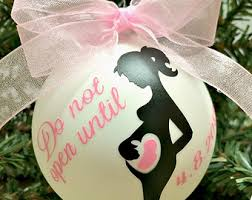 pregnancy christmas ornament personalized christmas ornament