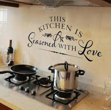 kitchen informative measurements sign poster for kitchen wall art kitchen styling vinyl kitchen wall art decal with pans and stove kitchen wall art