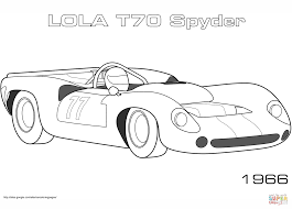 1966 lola t70 spyder coloring page free printable coloring pages
