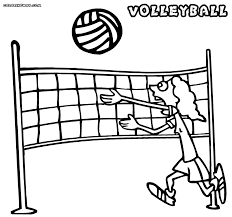 coloring pages beach volleyball sports printable size
