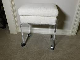 Lucite Vanity Bench Vintage 70 U0027s Thick Lucite Vanity Bench Stool W Casters U0026 2