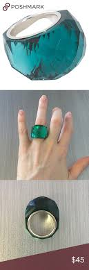swarovski rings green images Swarovski green emerald nirvana ring my posh picks pinterest png