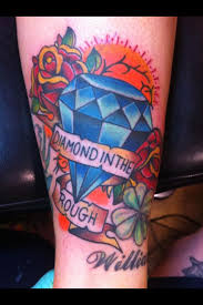 diamond in the rough tattoo by tom chetelat baltimore md