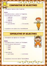 of comparison worksheet