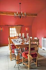 dining room painted in fleetwood u0027s exuberant pink and hawthorne