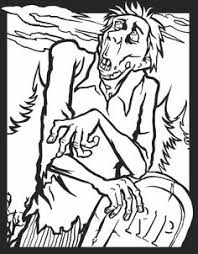 zombies coloring pages melty zombie coloring