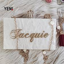 bridesmaid bags yens handmade bling acrylic clutch custom name clutch evening bags