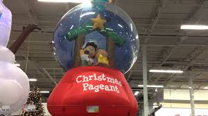 The Home Depot Christmas Decorations by Christmas Decor Peanuts Nativity Snow Globe Airblown Inflatable
